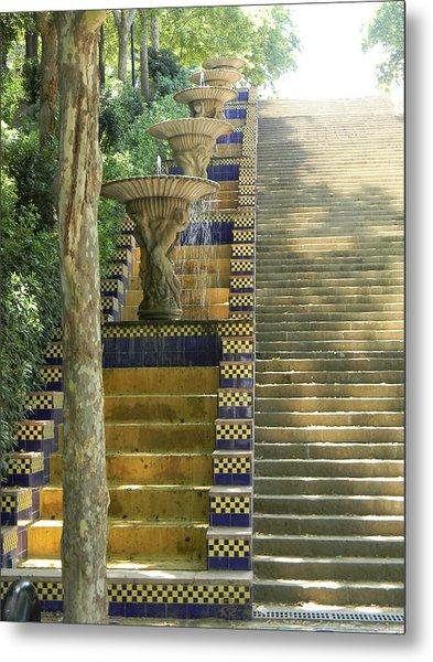 Fountains At Montjuic Metal Print