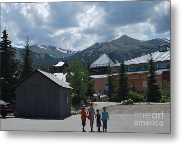 Four Little Children Safe In A Big Beautiful World Telluride Colorado Metal Print