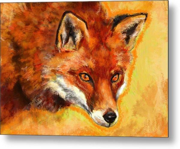 Fox Spirit - Kitsune Metal Print by Lakota Phillips