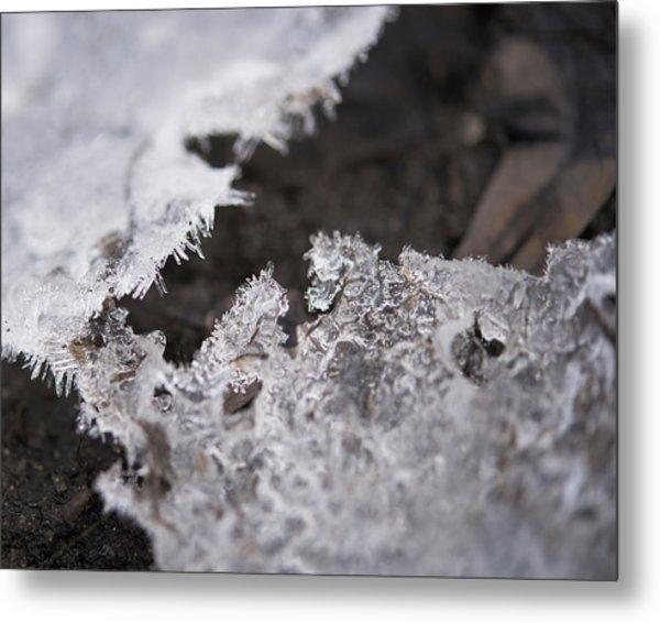 Fragmented Ice Metal Print