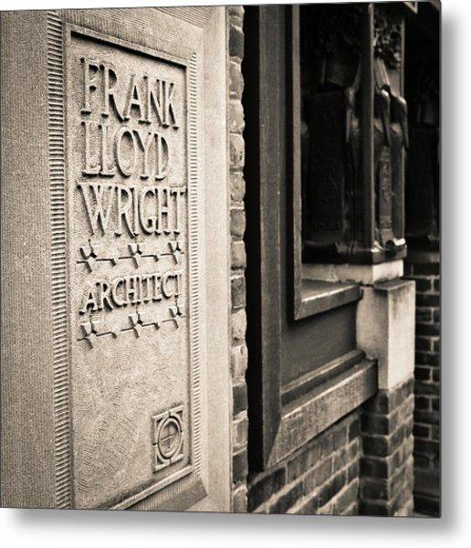 Frank Lloyd Wright's Studio Metal Print