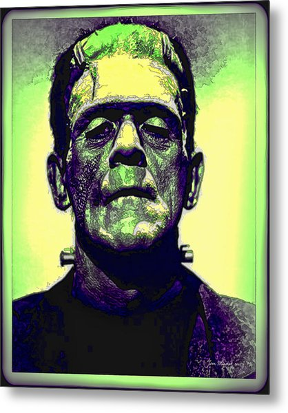 Frankenstein In Color Metal Print