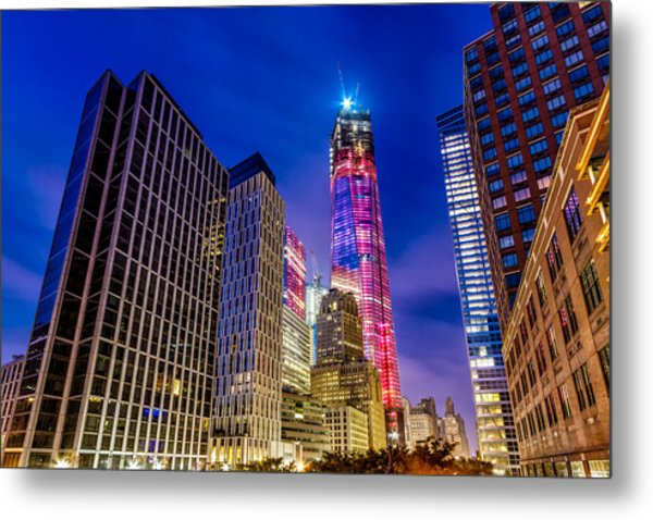 Freedom Tower From The Tribeca Bridge. Metal Print