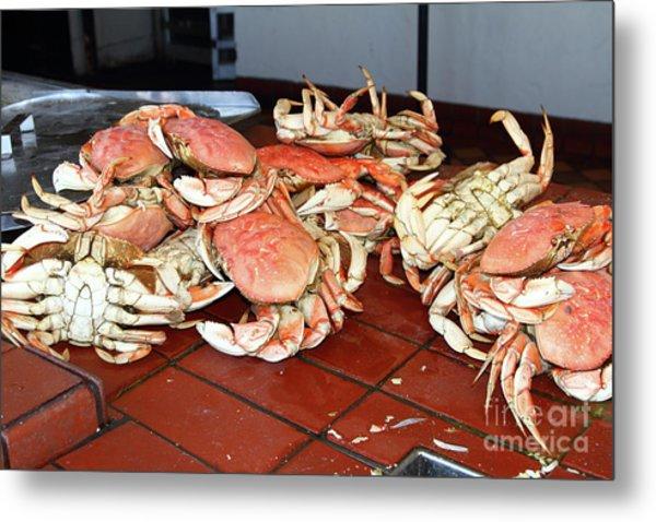 Fresh Cooked Crabs At Fishermans Wharf San Francisco California 7d14459 Metal Print