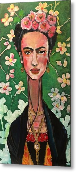 Metal Print featuring the painting Frida You Are My Vogue by Laurie Maves ART
