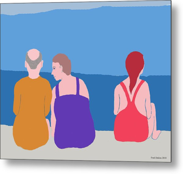 Friends On Beach Metal Print