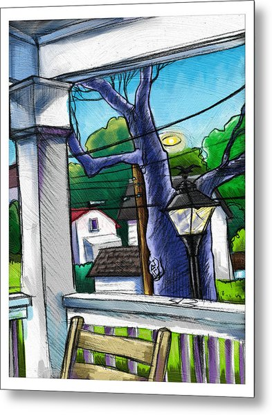 Front Porch Metal Print by Baird Hoffmire
