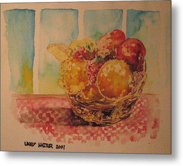 Fruitbasket Metal Print by Larry Whitler