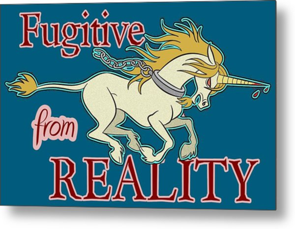 Fugitive Unicorn Metal Print
