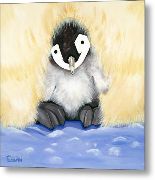 Fuzzy Baby Metal Print by Michelle  Eggan