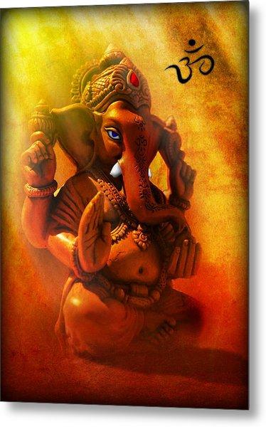 Ganesha Hindu God Asian Art Metal Print