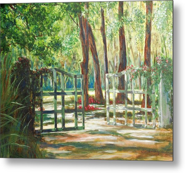 Garden Gate Metal Print by Beth Maddox