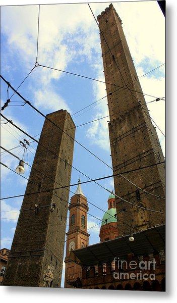 Garisenda And Asinelli Towers Metal Print