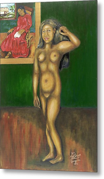 Gauguin Backgrounded Metal Print by Neil Trapp
