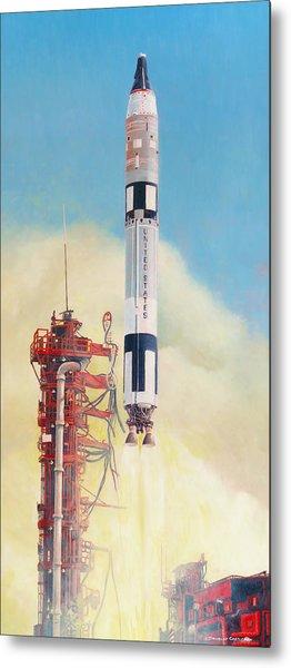 Gemini-titan Launch Metal Print