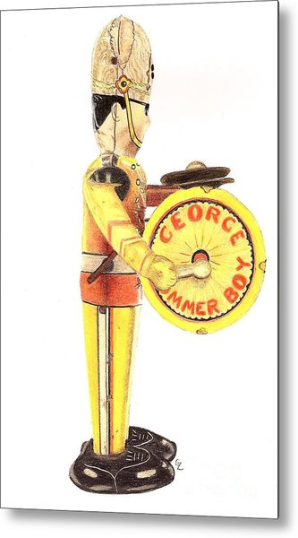 George The Drummer Boy Metal Print