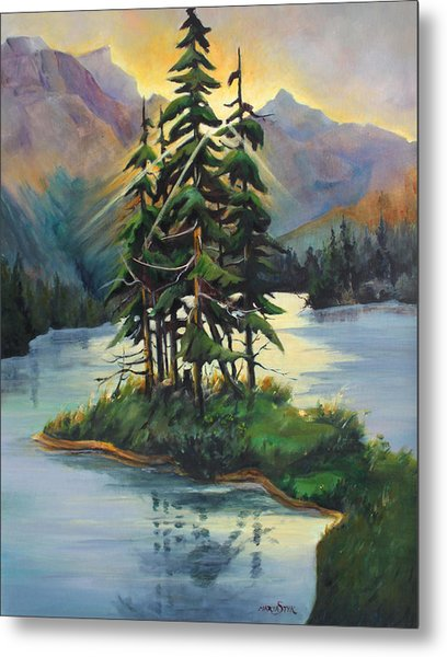 Ghost Island Near Jasper Metal Print by Marta Styk