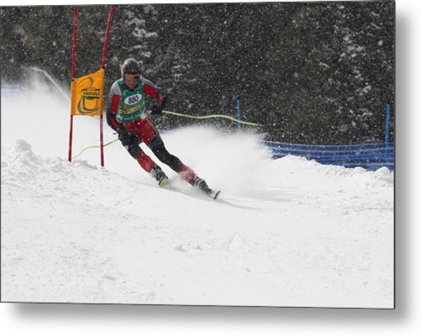 Giant Slalom Racing Metal Print