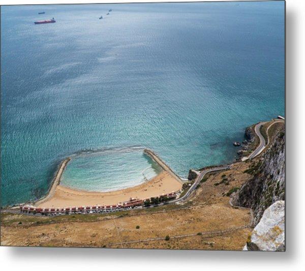 Gibraltar Rock View To The Beach Metal Print