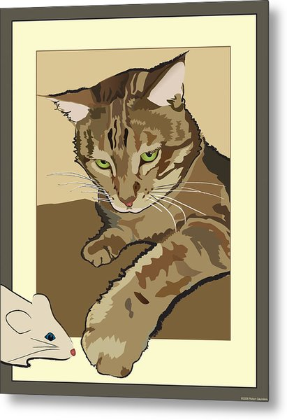 Ginger Peach Bengal Kitty Metal Print