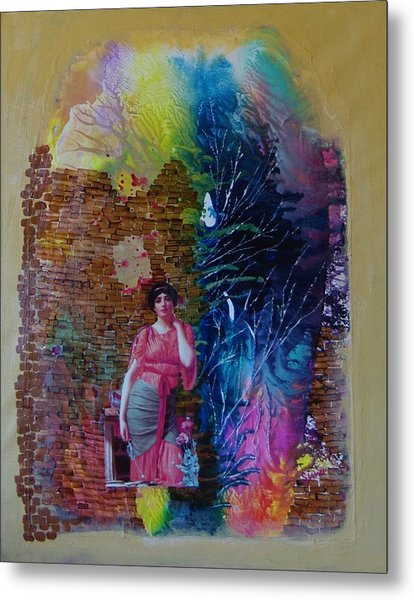 Girl In Front Of The Break Wall. Metal Print by Sima Amid Wewetzer
