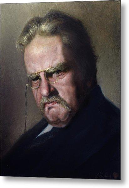G.k. Chesterton Metal Print by Eric  Armusik