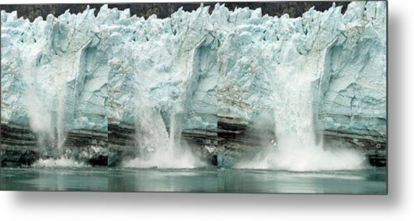 Glacier Calving Sequence 1 Metal Print