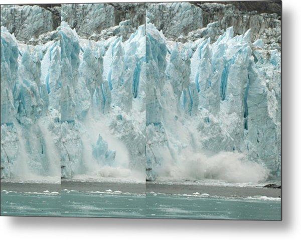 Glacier Calving Sequence 2 V2 Metal Print