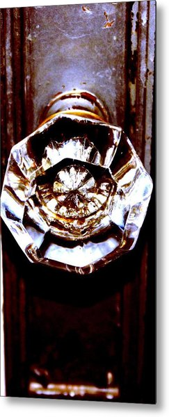 Glass Knob Metal Print by Brenda Myers
