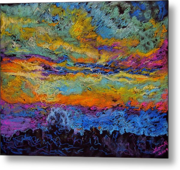 Glorious Sunset 3 Metal Print by Laura Heggestad
