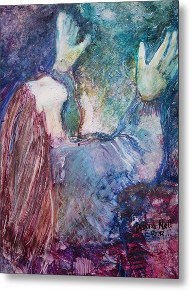 Metal Print featuring the painting Going Deeper by Deborah Nell