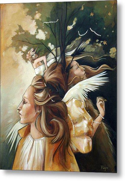 Gold Leaf Mysticism Metal Print by Jacque Hudson
