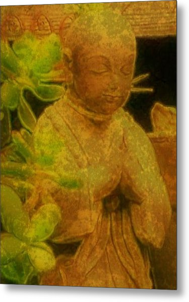 Golden Buddha Metal Print by Jen White