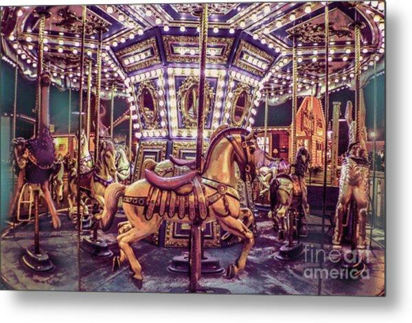 Golden Hobby Horse Metal Print