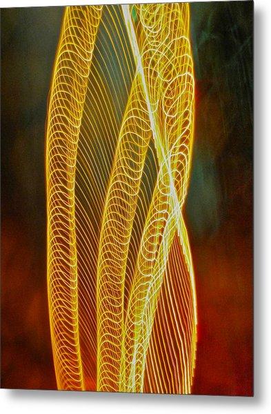 Golden Swirl Abstract Metal Print