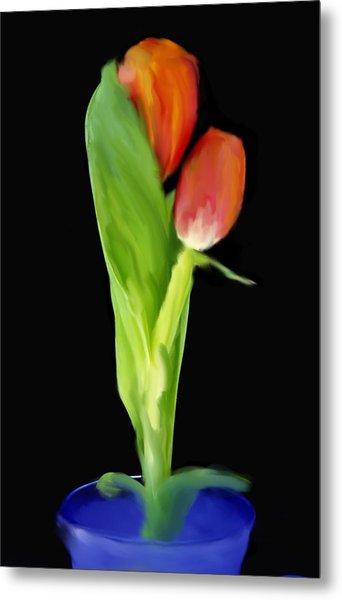 Golden Tulips Metal Print by Daniel D Miller