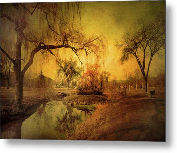 Golden Winter Days Metal Print