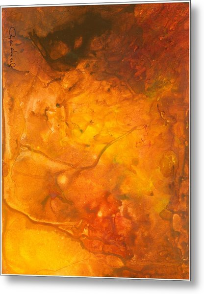 Metal Print featuring the painting Goldenglow by Phyllis Howard
