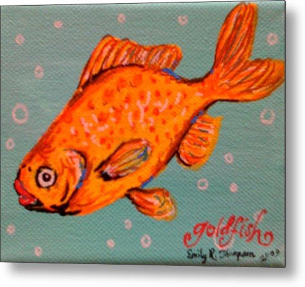 Goldfish Metal Print by Emily Reynolds Thompson