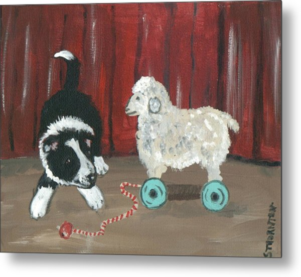Gots Me A Sheepie Metal Print by Sue Ann Thornton
