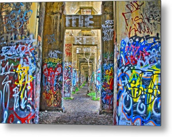 Grafiti Bridge To Nowhere Metal Print