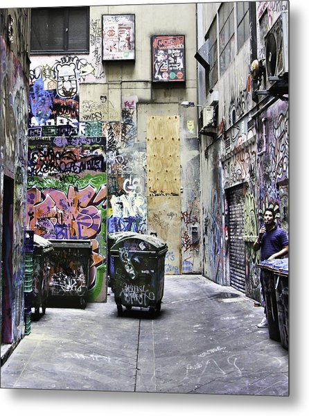 Grafitti Alley Metal Print by Mark Coran