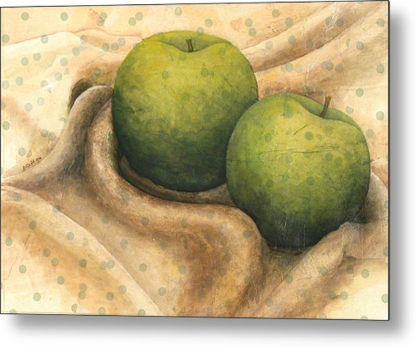 Granny Smith Apples Metal Print by Sandy Clift