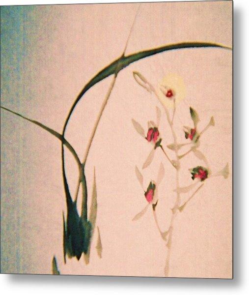 Grass And Buds Metal Print by JuneFelicia Bennett
