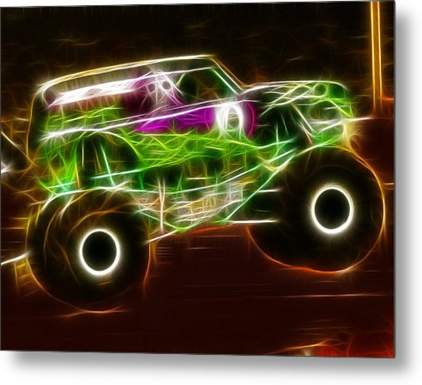 Grave Digger Monster Truck Metal Print