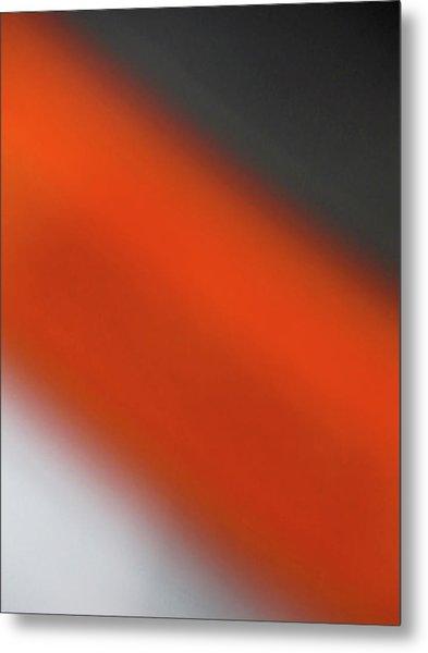 Gray Orange Grey Metal Print