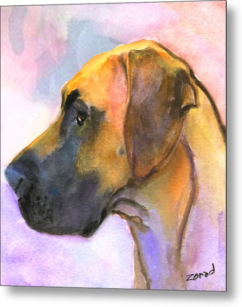 Great Dane Metal Print by Mary Jo Zorad