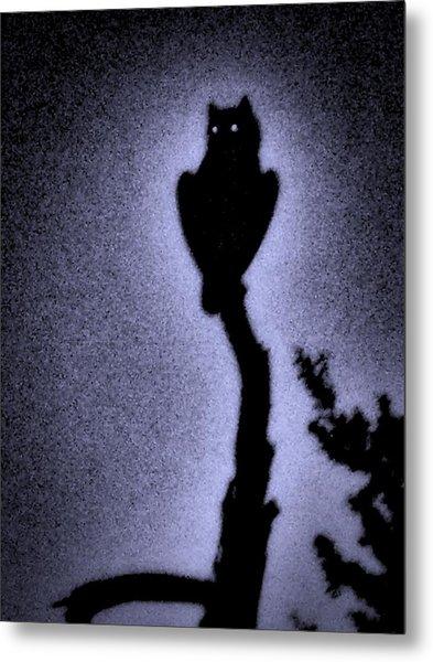 Great Horned Owl In The Desert 4 Metal Print