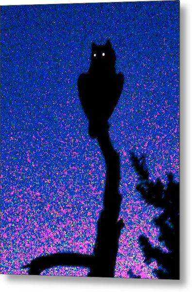 Great Horned Owl In The Desert Metal Print