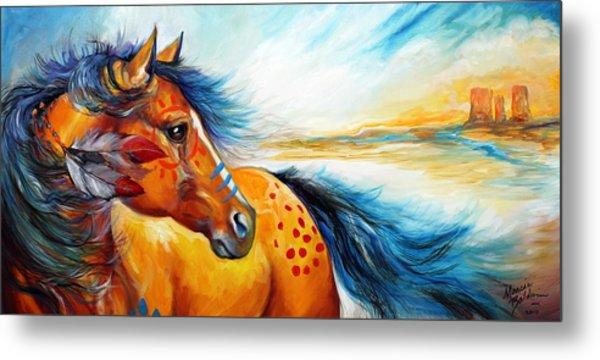 Great Plains Warrior An Indian War Pony Metal Print